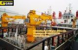 0.85t31m hidráulicos telescópicos Boom pedestal kunckle Marino nave marina de grúa