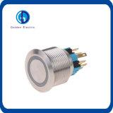 interruptor de pulsador impermeable del pulsador del metal del bloqueo del uno mismo de 8m m 12m m 16m m 19m m 22m m 25m m mini