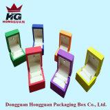 Caixa de jóia de madeira colorida