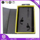 Simplicidad Flip Conjunto de accesorios electrónicos de cartón Caja de regalo con orificio para colgar cómodamente