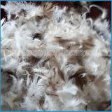 Pena de pato branco ou cinza para têxtil