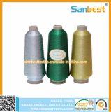 Amorçage métallique de broderie de couleurs avec le filé de faisceau de polyester ou de rayonne