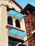Teto resistente ao vento com fixação central para a Marquise de policarbonato com tampa de protecção