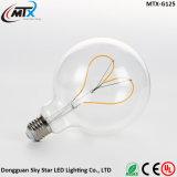 Venta caliente en forma de corazón de Diseñador de incandescencia LED Flexible Bombilla Edison