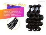 Esmeralda 100% brasileira de tecelagem do cabelo humano de Remy do Virgin do cabelo da felicidade 3 em 1 onda do corpo