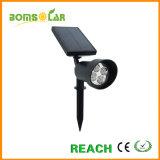 2W riflettore solare luminoso per i segni, indicatore luminoso solare esterno dell'alluminio LED del punto del giardino per gli alberi