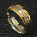 Shineme 보석 고품질 보석 티타늄 금 도금 반지 (TR1913)