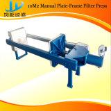 Máquina de imprensa de filtro de pequeno uso em laboratório para uso químico, alimentar, farmacêutico e de indústria de pedra