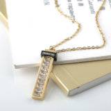 Nuova collana di diamante del quadrato dell'acciaio inossidabile dei monili di modo delle donne