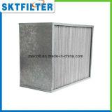 Profundo-Plisar los media de la fibra de vidrio del filtro de HEPA/ULPA con acero inoxidable