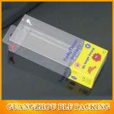 Mini caja de embalaje plástica plegable transparente