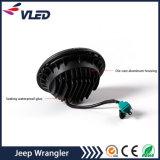 Farol de LED de 7 Polegadas com halo de luz direcional DRL Olho de ângulo de RGB para Jeep Wrangler