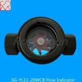 Indicateur de débit d'huile sans fil Wcb NPT simple avec Rotor