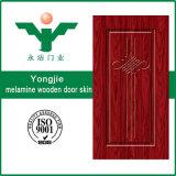 Peau en bois rouge composée élégante de porte de mélamine