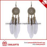 Nuovi orecchini della decorazione del diamante dell'annata di arrivo con la piuma Pendent