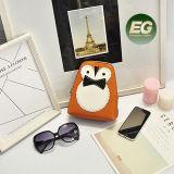 Form-netter lederner kleiner Handtaschen-Farben-Zusammenstoß-Schulter-Beutel mit Kette für Mädchen Emg5079