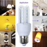 5W Lámpara LED Luz E27 Soporte Nunca Rust Iluminación PBT Llama-Retardante Material Bulbo de maíz
