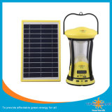 Nuovo indicatore luminoso di campeggio solare progettato con i comitati e due lampade