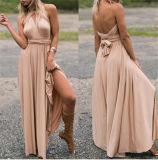 2017 venta caliente Muliti que desgasta el vestido de noche atractivo mágico largo de las mujeres del vendaje (17012)