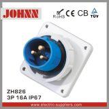 Fiche industrielle montée par panneau d'IP67 3p 16A