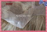 A maioria de laço suíço natural com sistema fino do cabelo do perímetro da pele
