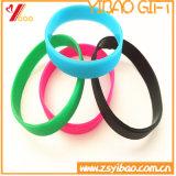 Silicones en caoutchouc Wrisband (YB-HD-118) de talon de /Silicone de bande en caoutchouc faite sur commande de bracelet