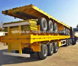 40FTの容器のトレーラー、平面トレーラー、容器のトラック