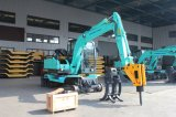 Yuchaiエンジンを搭載する6.5ton車輪の掘削機