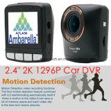 "2.4 ""Ambarella A7la50 2k resolución estupenda 1296p coche DVR G-Sensor incorporado, cámara 5.0mega, Hdr, WDR, función de Dectection del movimiento DVR-2404"