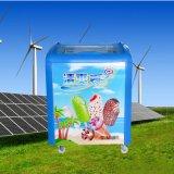 Purswave Sr/Sf-168 168L tür-Kühlraum-Eiscreme-Gefriermaschine der Gleichstrom-Solarbrust-Gefriermaschine-12V24V48V Glasangeschalten durch Sonnenkollektor und Batterie -20degree