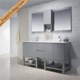Шкаф ванной комнаты отделкой тщеты ванной комнаты двойной раковины Fed-1207 серый