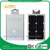 8W todo en una luz de calle solar al aire libre del LED con el sensor de movimiento de PIR