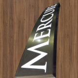 Алюминий крытого/напольного металла пластичный выгравировал вытравленный знак магазина