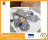 Женщины Customed греют связанные перчатки с картинами цветков