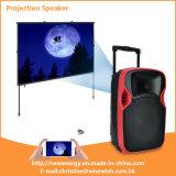 12 pulgadas del plástico de altavoz accionado PA de DJ Bluetooth con el proyector