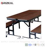 Orizeal 4개의 바퀴를 가진 이동할 수 있는 접히는 군매점 테이블