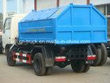 Hotsales 4cbm 4ton Hook Lift Garbage Truck clouded