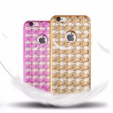 Grossistas Popular Luxo Electroplate Diamond Soft TPU Phone Case para iPhone 7