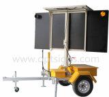 Panneaux actionnés solaires de flèche montés par remorque portative instantané DEL de contrôle de trafic