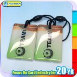 C 13.56MHz NFC NTAG213 지능적인 Keychain 에폭시 RFID Keyfob