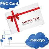 Quatre trous d'impression offset couleur/perforation Finition matte Carte-cadeau en plastique PVC