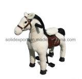 Jouet de marche de poney de peluche de conduite de cheval d'équitation mécanique de Kiddie