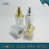 30 ml High-End couvercle en acrylique blanc perle bouteille en verre de cosmétique