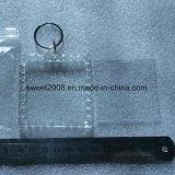 El marco de fotos de forma de cuadrado Llavero Llavero de plástico blanco
