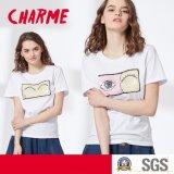 Mesdames fashion 2 Design façon broderie paillettes Jersey T-Shirt