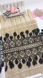 Merletto di nylon di immaginazione della guarnizione del ricamo del poliestere del merletto del commercio all'ingrosso 7.5cm del ricamo di riserva di larghezza per l'accessorio degli indumenti & la decorazione domestica delle tende & delle tessile