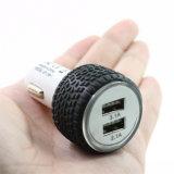 Lader van de Auto USB van de Vorm van de band de Dubbele met FCC Ce RoHS voor Smartphone