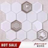 家の壁のための優秀な品質の卸売の安く着色された六角形のモザイク・タイル