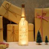 El corcho de la botella de la estrella del vino del LED enciende decoraciones con pilas de las luces estrelladas blancas calientes de la cadena las mejores para los tarros de las botellas