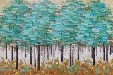 Abstraktes Wiedergabe-Baum-Ölgemälde